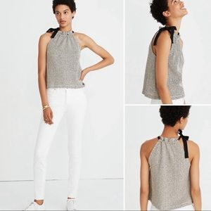 Madewell Texture & Thread Tie-Neck Swing Halter L
